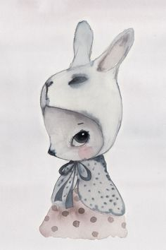 Mrs Mighetto | Children's Illustration - This would be so cute as miniature wall art in a dollhouse!