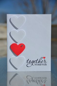 MDS Stampin' Up Together Forever Love Card with a Premium Red Envelope by LoveThoseCards on Etsy https://www.etsy.com/listing/221980456/mds-stampin-up-together-forever-love