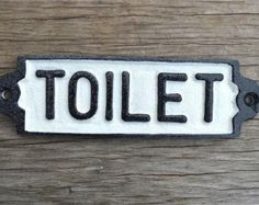 Nostalgic WC Toilet Door Sign Cast Iron Sign Boy by Pot Mens 3D