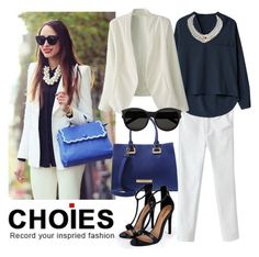 """Choies 11."" by marijaprusina ❤ liked on Polyvore featuring Chanel, LYDC, Yves Saint Laurent, Boohoo and Choies"
