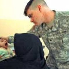 "This is a hero! Army Medic David ""DJ"" Stelmat... Killed in Afghanistan March 22nd 2008, comforting a crying Iraqi baby shortly before his death...."