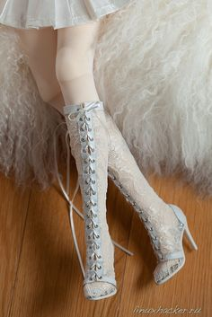 Valandra's Room - Lace-up doll boots - So pretty