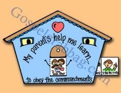 primary lesson helps, ctr-b lesson 28, primary manual 3, our parents help us learn, family home evening, lesson activity