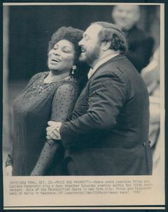 SINGING WITH PAVAROTTI AT THE MET CENTENNIAL GALA.  IT WAS THE FIRST AND LAST TIME THESE TWO SANG TOGETHER ON THE MET STAGE.