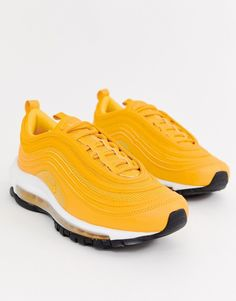 half off 7ec1b 274f6 Nike Yellow Air Max 97 Sneakers