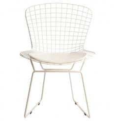 Eetkamerstoelen : Bertoia side chair wit-wit