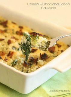 Cheesy Quinoa and Bacon Casserole - Lauren Kelly Nutrition