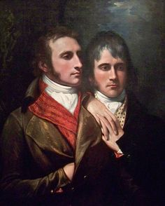 """Raphael West and Benjamin West, Jr., Sons of the Artist"" by Piedmont Fossil, 1796, Nelson-Atkins Museum of Art"