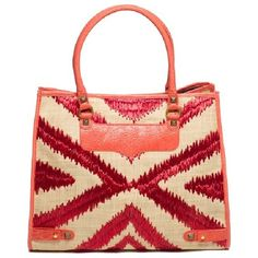 Straw Diamond Tote ($250) ❤ liked on Polyvore
