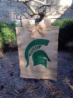 Michigan state garden flag by WREATHSBYCHRISTEE on Etsy