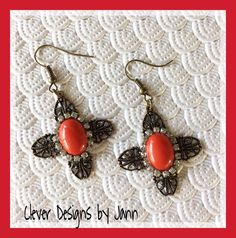 Holiday Red Earrings .. FOR SALE $15.00 https://www.etsy.com/shop/CleverDesignsbyJann