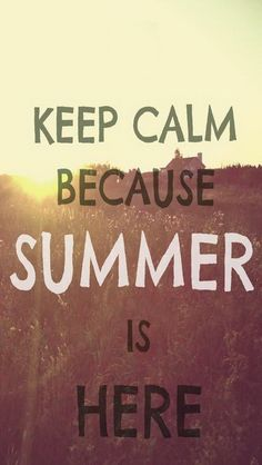 I honestly am just so happy. While most say they love fall,winter or spring I have always loved summer the most. All year <3