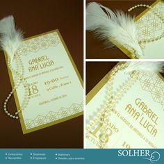 Detalles especiales en esta invitación de boda civil.