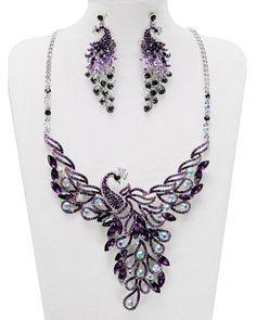 purple peacock jewelry - Google Search