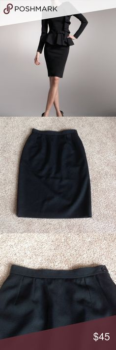 """Authentic Valentino black pencil skirt In excellent condition. Size tag says 40/8 and waist laying flat measures 13"""" across and is 25"""" long.  Please refer to the measurement. Model is added for styling idea.  It has 2 pockets (1 each side).                                               c Valentino Skirts"""