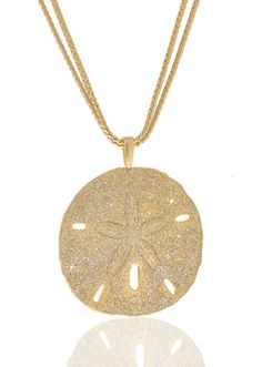 Stardust Gold Sand Dollar Necklace
