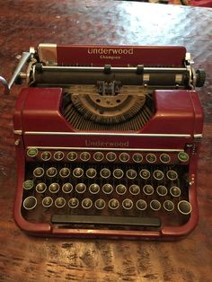 Underwood Typewriter  #Underwood #UnderwoodElliottFisherCo
