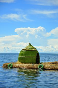 Mini house on the Titicaca Lake, Floating Islands --- Photo taken by Esmeralda Spiteri