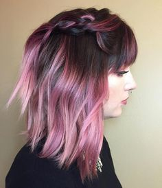 Total rooted pink hair inspo! Redken Artist Kris Williams used City Beats to create these dusty tones perfect for any dark-haired babe looking to go pink!