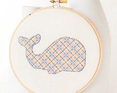 Point de croix modèle PDF mignon lapin en par RedGateStitchery