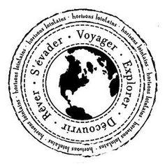 Tampon bois - Horizons lointains - x cm Etiquette Vintage, Aesthetic Stickers, Tampons, Scrapbook Albums, Travelers Notebook, Love Book, Word Art, Vintage Prints, Mini Albums