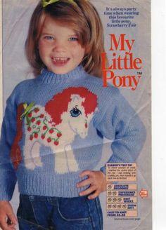 Vintage Baby/Toddler My Little Pony Motif Knitting pattern
