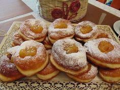 A fánksütéstőlsokan tartanak, ez a recept nagyon egyszerű, érdemes megsütni! Doughnut, Desserts, Food, Tailgate Desserts, Deserts, Essen, Postres, Meals, Dessert