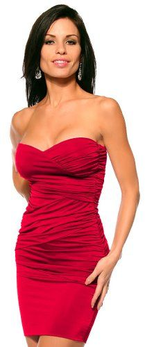 Patty Women Ruched V Neck Dropped Waist Evening Clubwear Mini Dress. This would be fun if I was not so conservative!