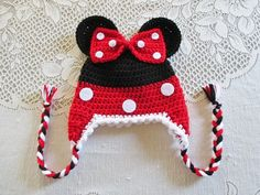 READY TO SHIP  1 to 3 Year Size  Aqua Minnie Mouse Crochet