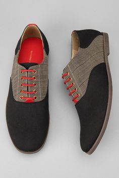 Hawkings McGill oxfords with badass red laces