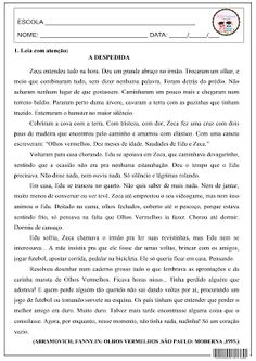SOS PROFESSOR-ATIVIDADES: Avaliação - A despedida                                                                                                                                                                                 Mais
