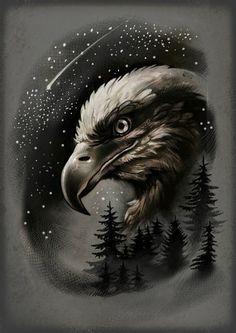 Image may contain: bird Eagle Head Tattoo, Eagle Tattoos, Wolf Tattoos, Animal Tattoos, Skull Tattoos, Celtic Tattoos, Full Arm Tattoos, Sleeve Tattoos, Tattoo Sketches