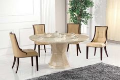 Cassia Round Marble dining set @Blueoceaninteriors.co.uk