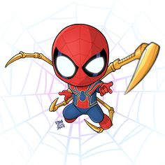 The Avengers 447052700510884331 - Spider-Man (Avengers: Infinity War) on Behance Source by kyonasaye Spiderman Cute, Chibi Spiderman, Spiderman Kunst, Chibi Marvel, Amazing Spiderman, Marvel Art, Spiderman Tattoo, Spiderman Marvel, Ms Marvel
