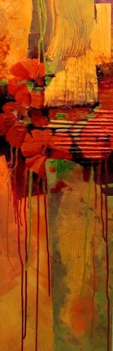 Tropical Tapestry 12093 by Carol Nelson, mixed media on panel