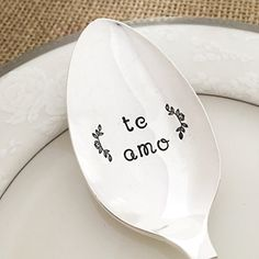 Te amo I love you Spanish spoon gift hand stamped Jasmine -- Check this awesome product by going to the link at the image.Note:It is affiliate link to Amazon.