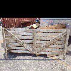 Fence headboard