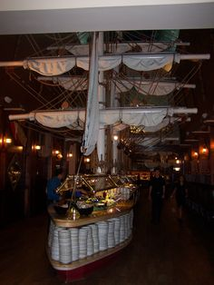 Capt'n Georges, Myrtle Beach   this is the buffet setup, restaurant can seat 850 folks at any given time, amazing food, great service, loved it