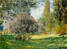 Claude Monet, Parc Monceau, Paris, 1876. Painting the Park series on smARTing off blog.