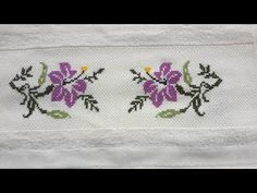 Crochet Bedspread, Crewel Embroidery, Diy And Crafts, Cross Stitch, Easy Cross Stitch, Cross Stitch Rose, Towel Bars, Cross Stitch Designs, Cross Stitch Pictures