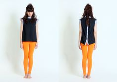 12WABSL034 Women sleeveless shirt with waist band at collar and armhole www.facebook.com/forinsanehuman