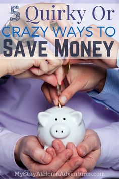 Looking for ways to save money? Saving money doesn't have to be boring and dull. It can be absolutely fun and make a nice hobby! Here are 5 Quirky Or Crazy Ways To Save Money!