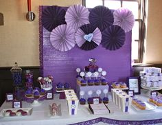 """Purple and Gold Theme Classroom   Bridal/Wedding Shower """"Purple Bridal Shower""""   Catch My Party"""