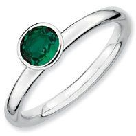 0.47ct Stackable High 5mm Round Emerald Ring Band. Sizes 5-10 Available Jewelry Pot. $38.99. 30 Day Money Back Guarantee. Your item will be shipped the same or next weekday!. All Genuine Diamonds, Gemstones, Materials, and Precious Metals. Fabulous Promotions and Discounts!. 100% Satisfaction Guarantee. Questions? Call 866-923-4446. Save 59%!