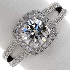 cushion cut halo ring...so close to perfection