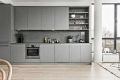 13 Brilliant nordic Interior Design Kitchen Images - Are you getting bored with . Grey Kitchen Designs, Modern Kitchen Design, Interior Design Kitchen, Home Design, Design Ideas, Interior Ideas, Interior Logo, Pastel Interior, Interior Sketch