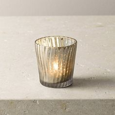 Frosted Ripple Tealight Holder   The White Company