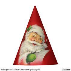Vintage Santa Claus Christmas Party Hat