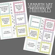 LDS Sabbath Day Ideas for Kids Printable by EmilyJaneDesignsInc