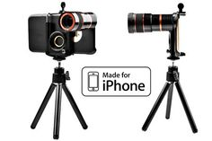 TOCCs iPhone Telephoto Lens with 8x Optical Magnification, Magnetic Attachment, Tripod and Holster Case